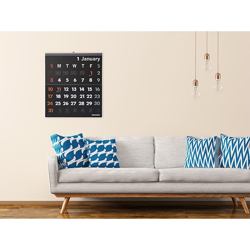イノベーター 2021年カレンダー 壁掛けカレンダー Lサイズ W53×H60cm innovator/R3/令和3年/壁掛/シンプル/おしゃれ/見やすい