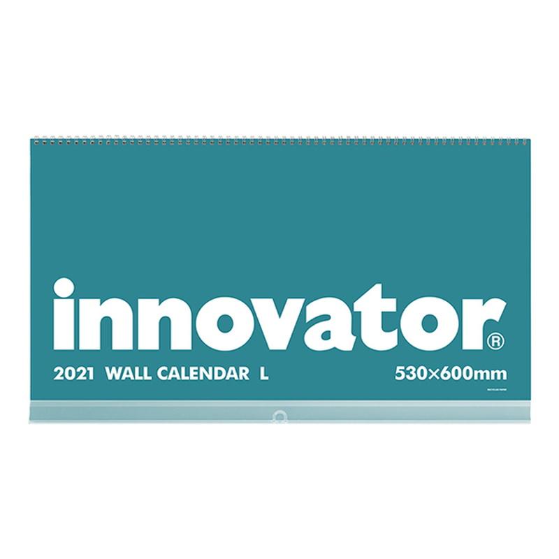 イノベーター 2021年カレンダー 壁掛けカレンダー Lサイズ 黒 W53×H60cm innovator/R3/令和3年/壁掛/ブラック/シンプル/おしゃれ/見やすい