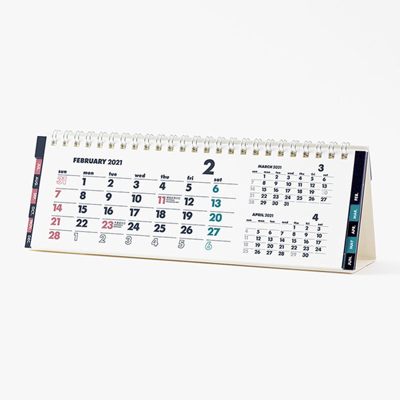 イノベーター 2021年カレンダー 卓上カレンダー スリム W23×H7.5cm innovator/R3/令和3年/デスクカレンダー/シンプル/おしゃれ/見やすい