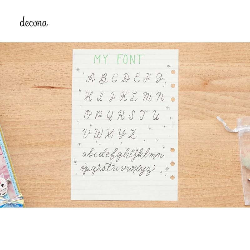 レイメイ decona デコナ システム手帳 リフィル A5サイズ用 横罫ノート トモエリバー 6.5mm罫 HAR488
