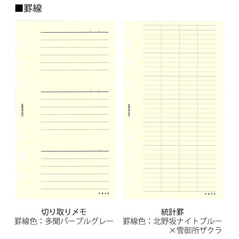 満寿屋×NAGASAWA システム手帳リフィル バイブルサイズ 切り取りメモ/統計罫 (ますや/ナガサワオリジナル)