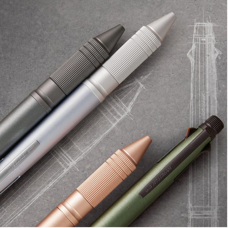 新ジェットストリーム4&1 メタル 多機能ペン 複合筆記色ボールペン+シャープ  ガンメタ/グリーン/ピンク/シルバー MSXE5200A5 JETSTREAM4&1 metal