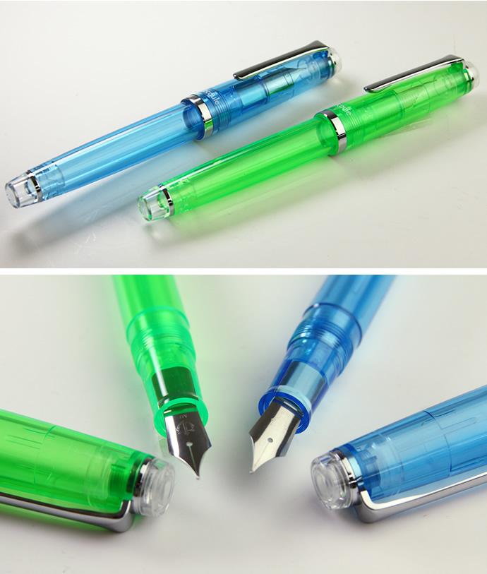 セーラー万年筆 レクル万年筆 限定カラー ホライズンブルー/スペアミント 透明万年筆 クリア万年筆