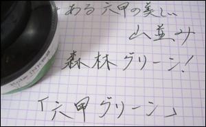 万年筆インク 神戸INK物語 50ml 六甲グリーン NAGASAWAオリジナル
