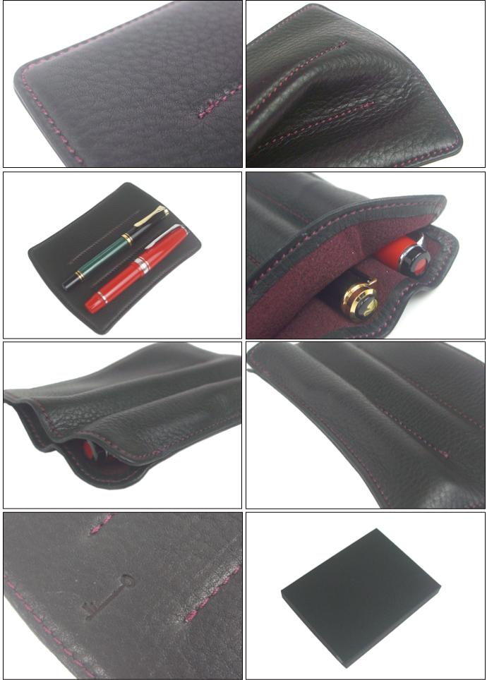 NAGASAWA Penstyle 3本差し キップレザー ペンケース SSサイズ (ナガサワ/万年筆 革 ペンケース)