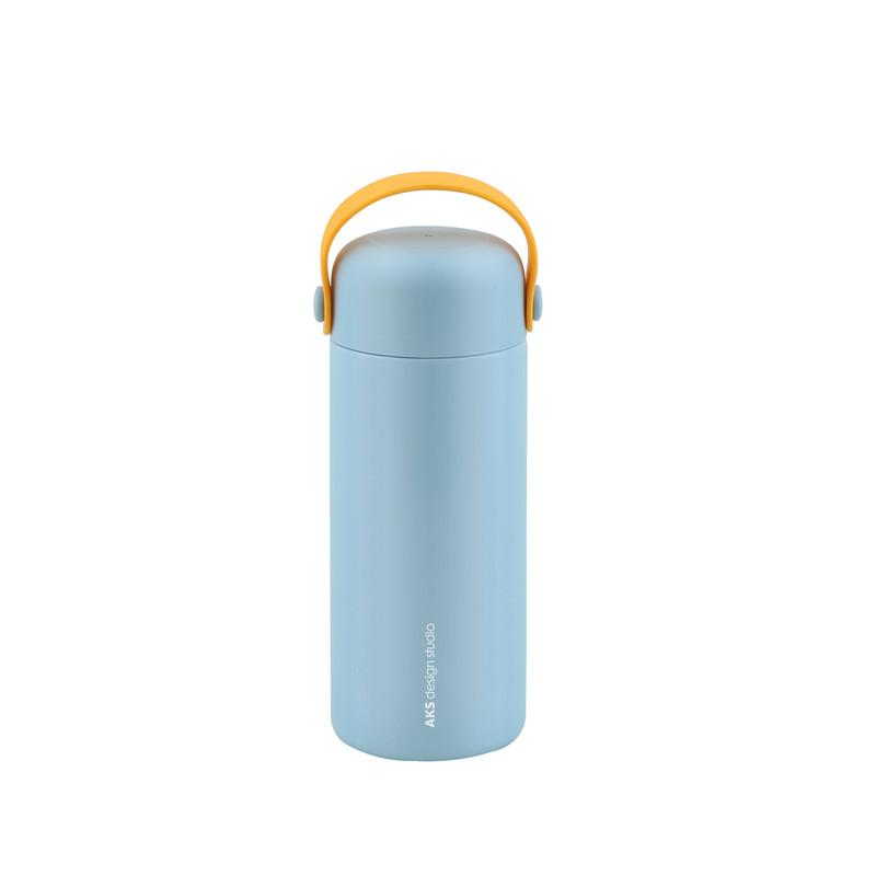 BGM ステンレス製 携帯まほうびん 350ml DOLPHIN キャリーイージーS グリーン/グレー/ピンク/ブルー AKS616