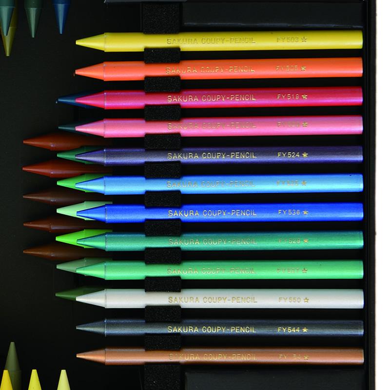 予約受付【9月末発売予定】サクラクレパス創業100周年記念 クーピーペンシル100色 ブラックパッケージエディション FY100A