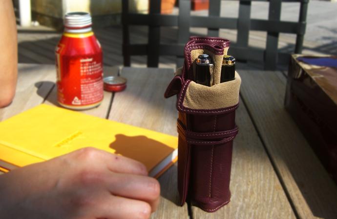 NAGASAWA PenStyle 5本差し キップレザー ロールペンケース (ナガサワ/万年筆 革 ペンケース)