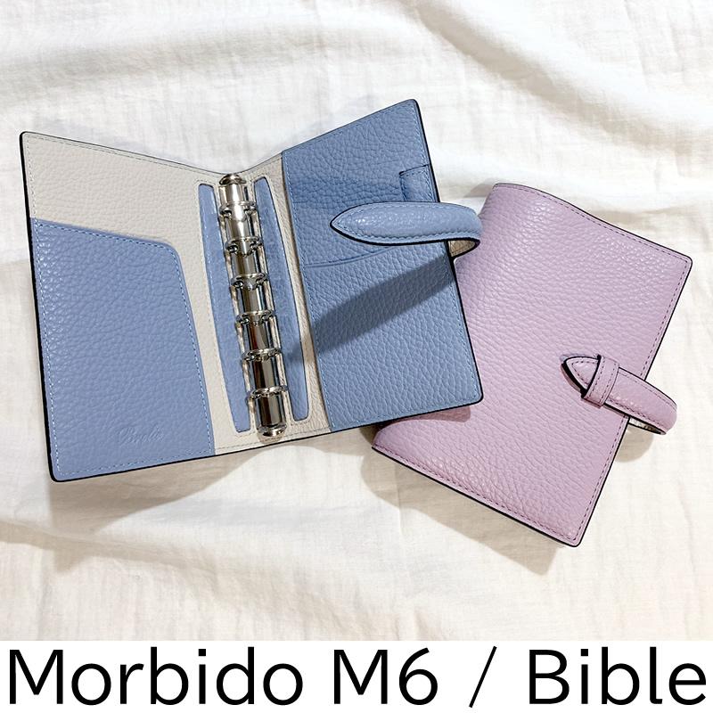ブレイリオ 取り扱い店舗限定 システム手帳 モルビド ピンク/スカイ M5/ミニ6/バイブル
