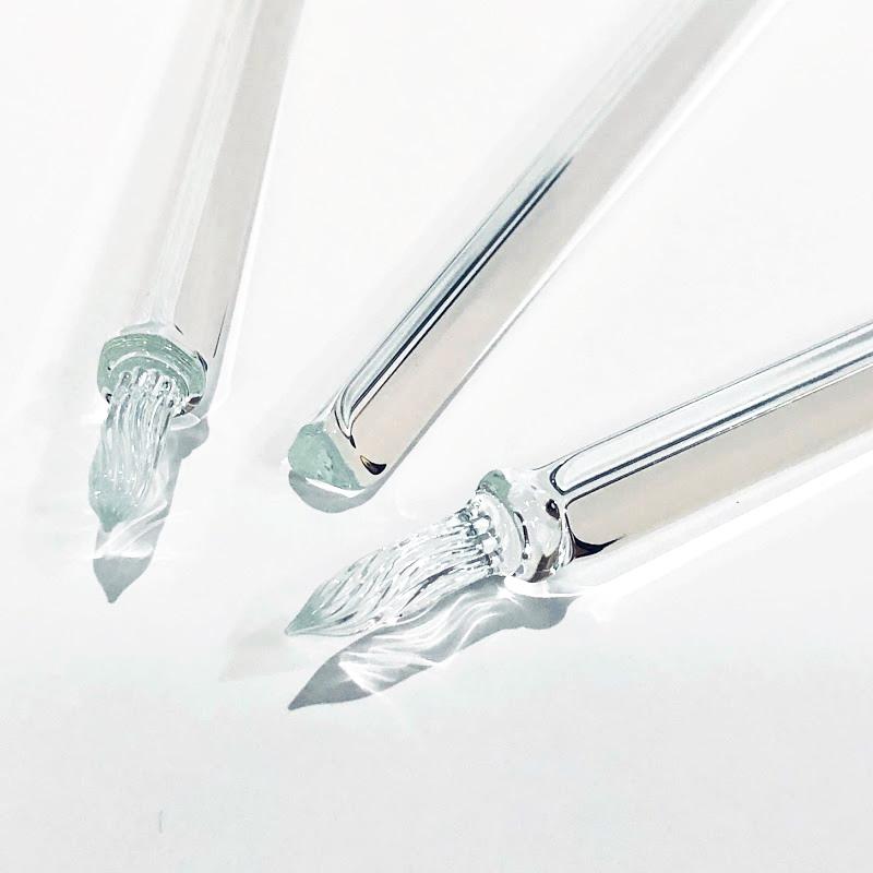 まつぼっくり ガラスペン トライアングル クリア F/M/B