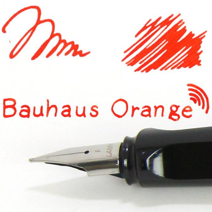 きたれ、バウハウス展コラボ Kobe INK物語  限定販売【バウハウスオレンジ】 (NAGASAWA PenStyle Bauhaus Orange /ナガサワオリジナル/万年筆 ボトルインク/神戸インク物語)
