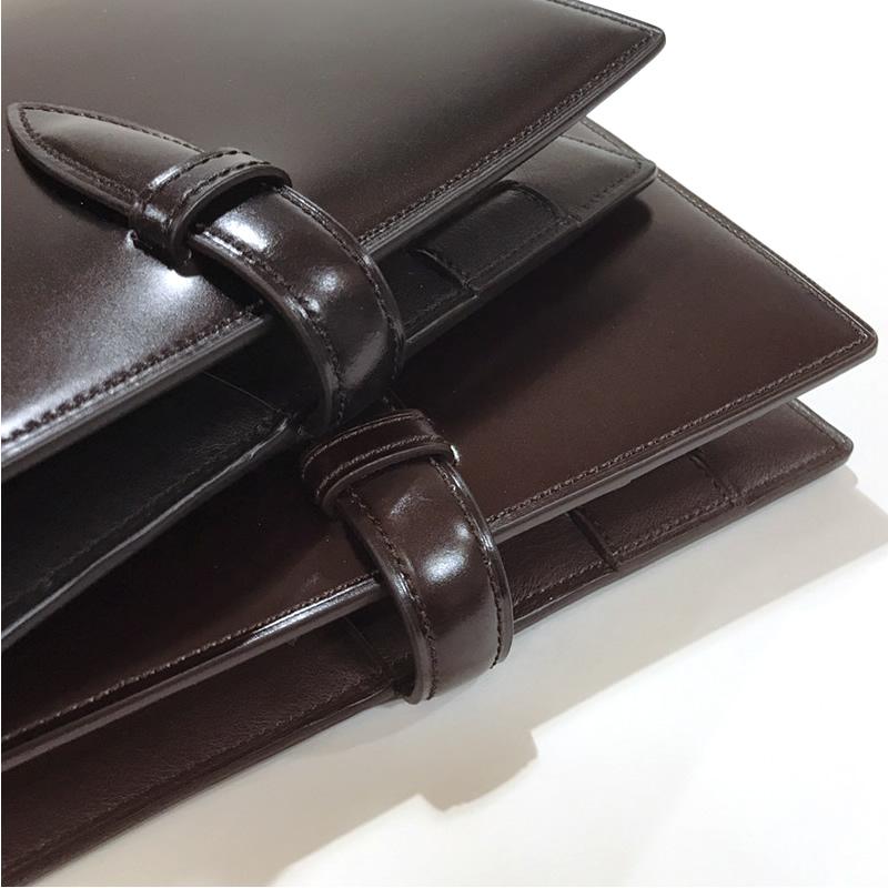 【名入れ対象商品】ブレイリオ 店舗限定 システム手帳 ロイヤルコードバン バイブルサイズ 20mm ベルト ブラック/チョコ