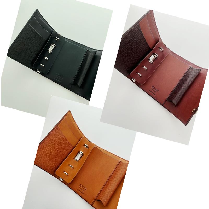 【取扱店限定】ノックス オーセン システム手帳 M5フラップ ブラック/ブラウン/ダークブラウン