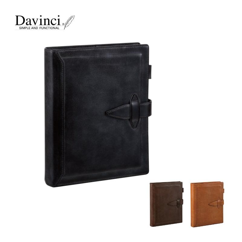 ダヴィンチ davinci システム手帳 ロロマクラシック Roroma Classic A5 30mm ブラック/ダークブラウン/ブラウン DSA3013