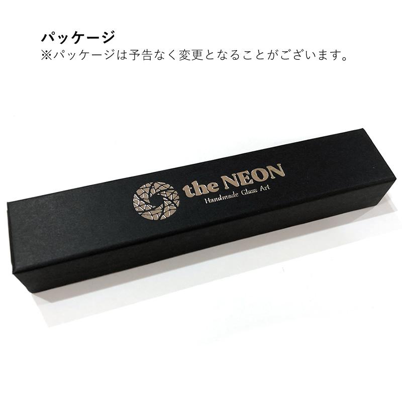 The NEON/ネオン シンプルガラスペン 虹色 ペンレスト付き