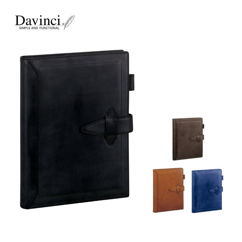 ダヴィンチ davinci システム手帳 ロロマクラシック Roroma Classic A5 20mm ブラック/ダークブラウン/ブラウン/ブルー DSA3010