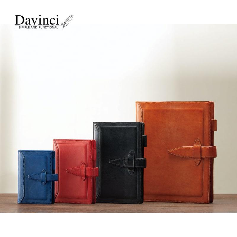 ダヴィンチ davinci システム手帳 ロロマクラシック Roroma Classic ポケット 14mm ブラック/ダークブラウン/ブラウン/ブルー/レッド DP3015