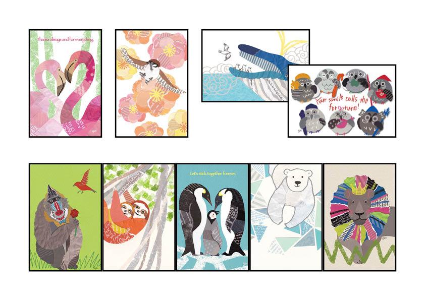 ポストカード9枚セットB(aya yonezawa)