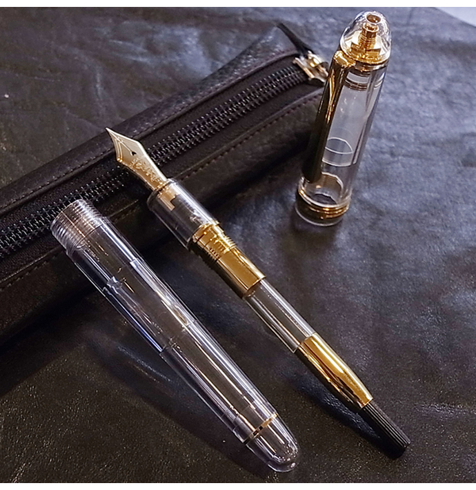 【名入れ対象商品】NAGASAWA オリジナル万年筆 センスケ プラチナ万年筆#3776センチュリーモデル