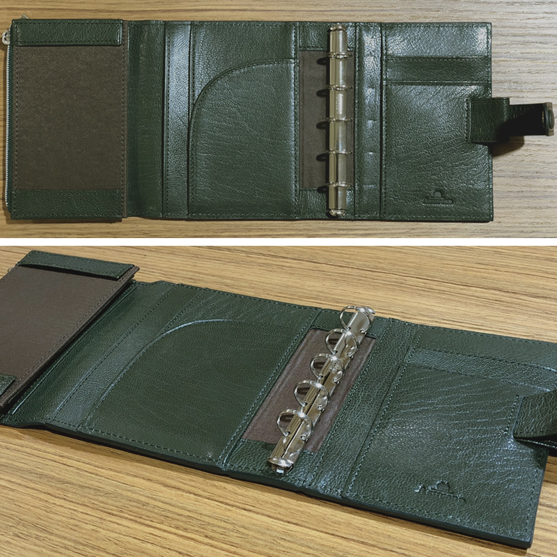 Ashford×NAGASAWA オリジナルシステム手帳 ヘリテージ グリーン M5サイズ コーチマン アシュフォード×ナガサワ