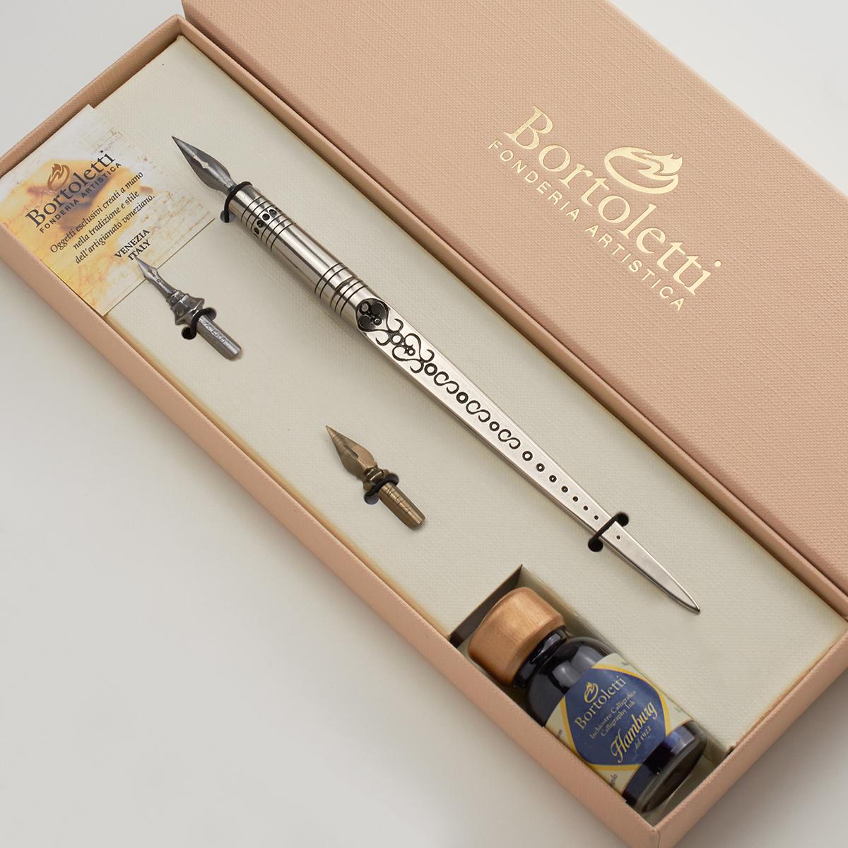 ボルトレッティ Bortoletti ブロンズ レターオープナー軸つけペン ギフトセット No16