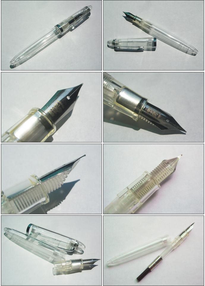 NAGASAWA オリジナル万年筆 透明万年筆 中細