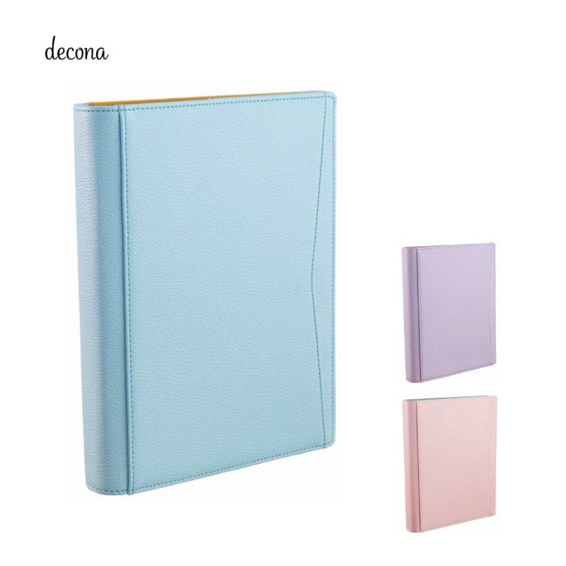 レイメイ decona デコナ システム手帳 A5 25mm ブルー/バイオレット/ライトピンク HDA6002