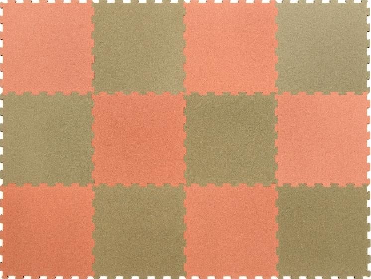 オールコルクマット【スポンジ無】 ミドリ/ピンク 12枚1セット(ミドリ6枚/ピンク6枚)