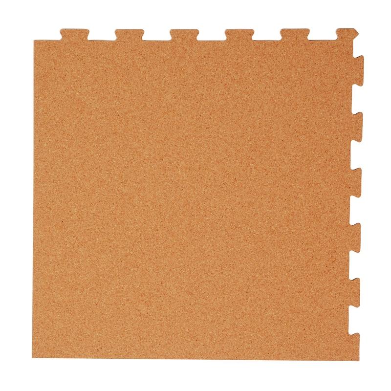 日本製ジョイントコルクマット【スポンジ有】 ナチュラル 8畳(144枚)用セット