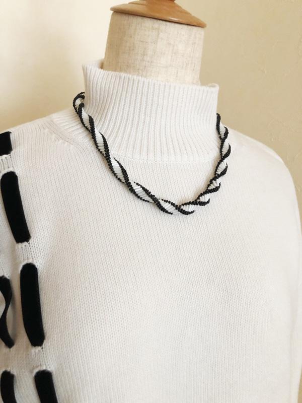 アフリカンヘリックスで編むネックレス 〜curly〜(キット)