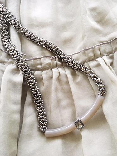 4ホールビーズで編むヘリンボーンのネックレス 〜ニューマニッシュ〜(キット)