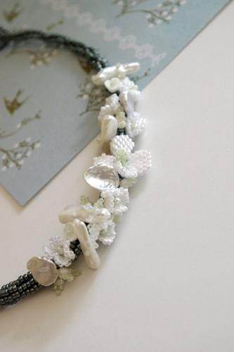 白いお花のチョーカー 〜アリッサム〜(キット)