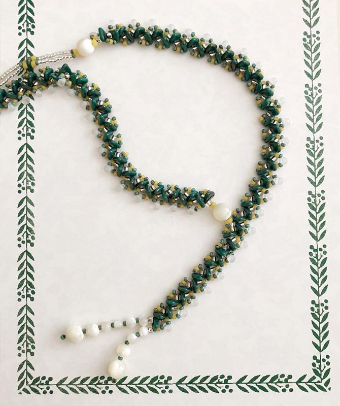トリステッチで編むネックレス 〜フィーユ〜(キット)
