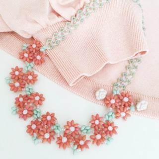 デージーとネパールチェーンのネックレス 〜リネアリス〜(キット)