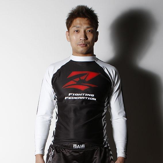 RIZIN長袖ラッシュガード アローモデル