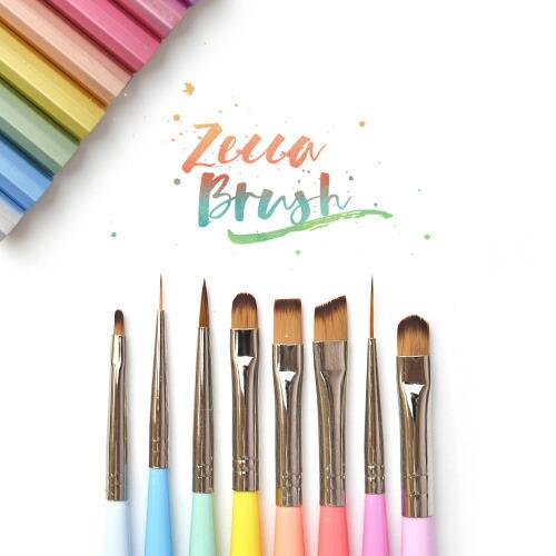 ネイリスト考案のアートに合わせた筆10種類 zecca ブラシ ジェルネイル用ブラシ 筆 高級 zecca  | ネイル ジェルネイル ネイル用品 道具 ジェルネイルブラシ ブラシ ジェル筆 ネイル工房