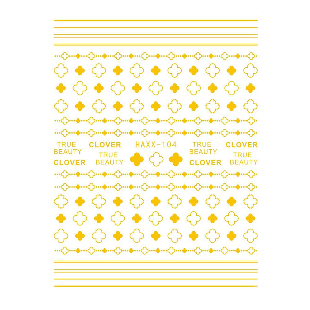 【ネコポス送料無料】ネイルシール ゴールドクローバーシール ネイル デコレーション [HAXX-104]