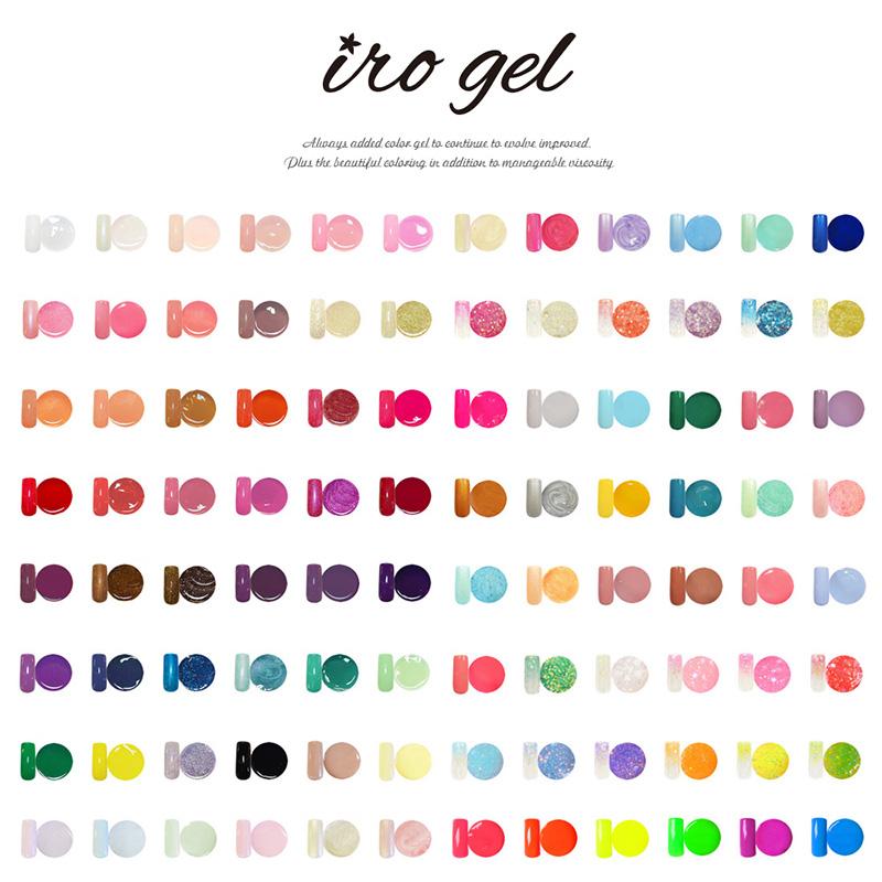 【ネコポス 送料無料】今話題の カラージェル![ irogel ] 美発色 新カラー大量追加!ジェルネイルをする全ての人を応援する特価販売!カラー品番1〜16