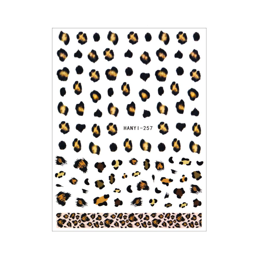 【ネコポス送料無料】ネイルシール[貼るタイプ] ヒョウ柄シール (HANYI-257)