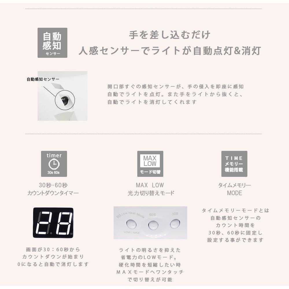 【宅急便送料無料】ネイルツール UV/LED両対応 36w LEDライト