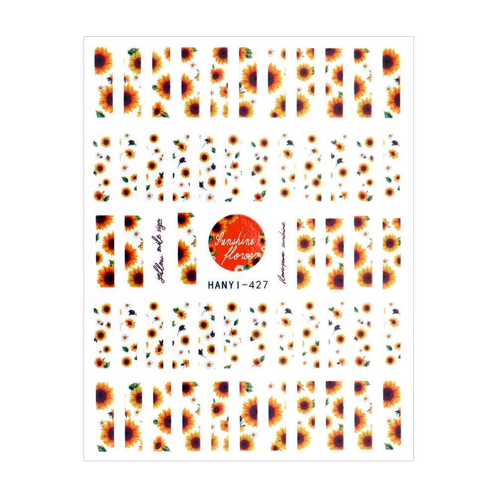 【ネコポス送料無料】ネイルシール サンフラワーラインシール ネイル デコレーション [HANYI-427]