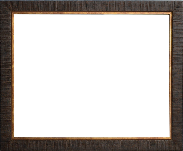 デッサン額縁 ロッキー/茶 四つ切サイズ(424×348mm) 【ラーソン・ジュール】