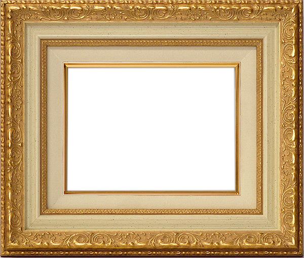 油絵用額縁 8200/ホワイトゴールド F12(606×500mm) ☆前面アクリル仕様☆ 【dras-29】