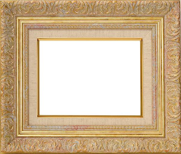 油絵用額縁 8209/ホワイトゴールド F12(606×500mm) ☆前面アクリル仕様☆ 【dras-29】