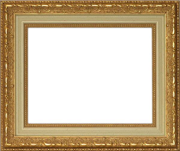 デッサン額縁 8200/ホワイトゴールド インチサイズ(254×203mm)