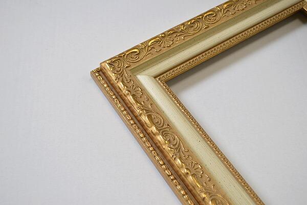 デッサン額縁 8200/ホワイトゴールド 四つ切サイズ(424×348mm)