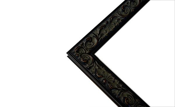 デッサン額縁 ソフィア/黒 小全紙サイズ(660×509mm) ☆前面アクリル仕様☆ 【ラーソン・ジュール】