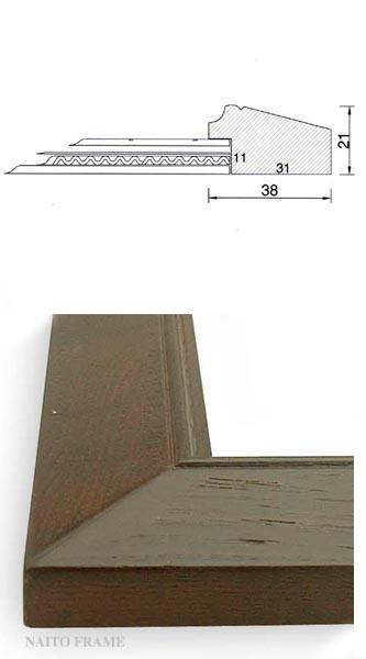 デッサン額縁 Bフレーム/外流れ インチ(254×203mm) 【ラーソン・ジュール】