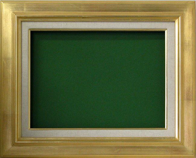 油絵用額縁 7711/ゴールド F12(606×500mm) ☆前面アクリル仕様☆