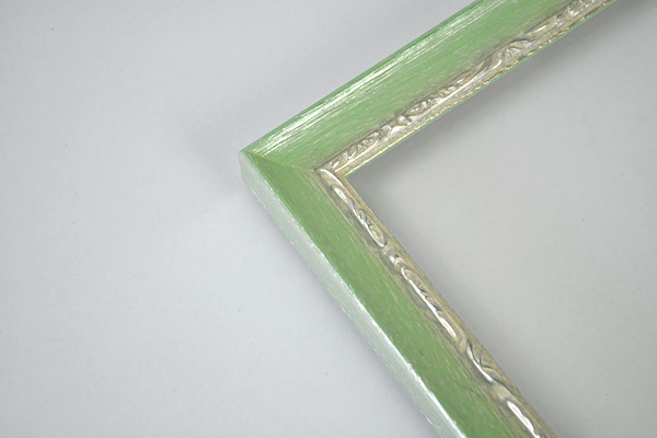 デッサン額縁 モナコ/緑 小全紙(660×509mm) ☆前面アクリル仕様☆ 【ラーソン・ジュール】